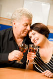Mature happy couple at home Stock Photo