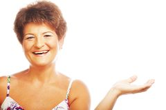 Mature happy woman Stock Photography