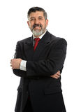 Mature Hispanic Businessman Smiling Stock Photography