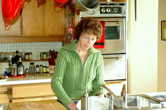 Mature Housewife. stock photography