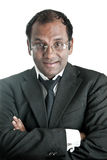 Mature indian business man with glasses Royalty Free Stock Images