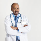 Mature Indian doctor portrait Royalty Free Stock Image
