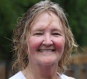 Mature irish woman. Expressions of a mature irish woman outdoors Stock Photography