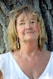 Mature irish woman. Expressions of a blonde mature irish woman Royalty Free Stock Photos