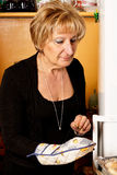 Mature italian woman Stock Images