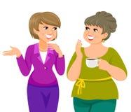 Mature ladies royalty free illustration