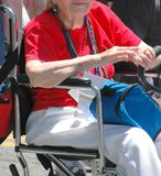 Mature Lady. Senior citizen in wheelchair Royalty Free Stock Image