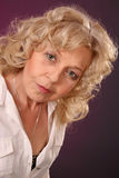 Mature Lady with curls Royalty Free Stock Photo