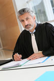 Mature lawyer working on judgement Royalty Free Stock Photography