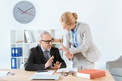 Mature lawyers working together Royalty Free Stock Images