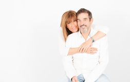 Mature love at 50 royalty free stock photography