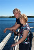 Mature loving couple together Stock Images
