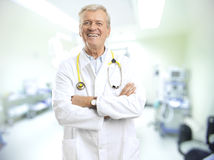 Mature Male Doctor Royalty Free Stock Photos