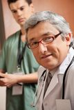Mature Male Doctor stock photo