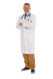Mature male doctor smiling Stock Photos