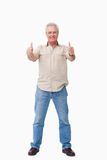 Mature male giving thumbs up Royalty Free Stock Image