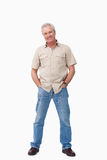 Mature male with hands in his pockets Royalty Free Stock Photography