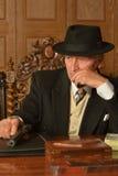 Mature male mafia boss Royalty Free Stock Images