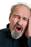 Mature Male In Pain stock images