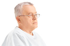 Mature male patient looking in the distance Stock Photos