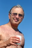 Mature man. At the beach Stock Images