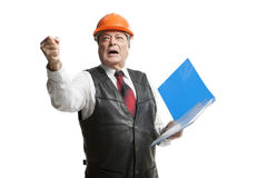 Mature man architect Stock Photos