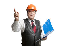 Mature man architect Stock Images