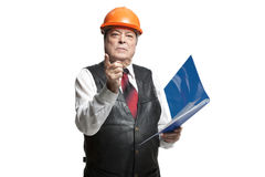 Mature man architect Royalty Free Stock Photography