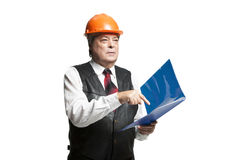 Mature man architect Royalty Free Stock Images