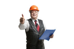 Mature man architect Royalty Free Stock Photo