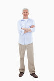 Mature man with the arms crossed Royalty Free Stock Photos