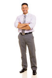 Mature man arms crossed Royalty Free Stock Image