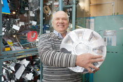 Mature man  in  auto parts store Stock Images