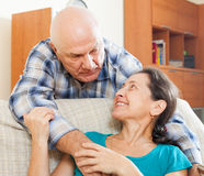 Mature man with beloved wife Royalty Free Stock Photo