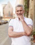 Mature man in the city Stock Photo