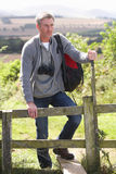 Mature Man On Country Walk Stock Photography