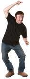 Mature Man Dances Stock Image