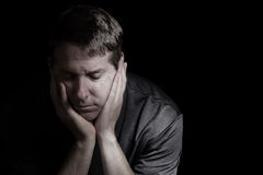 Mature man in Depression Royalty Free Stock Photo