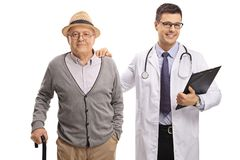 Mature man and a doctor Stock Photography