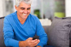 Mature man emails Stock Images