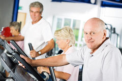 Mature man exercising Stock Image