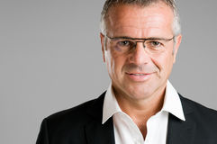 Mature man with glasses Stock Photo