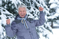 Mature man in good mood Royalty Free Stock Photography