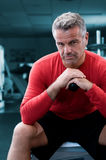 Mature man at gym Stock Images
