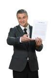 Mature man has recruiting skills. Stock Photo