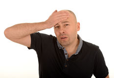 Mature man with headache Stock Photos