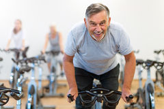 Mature man in health club Stock Image