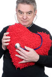 Mature Man with Heart Stock Photos