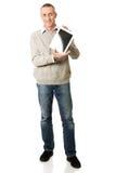 Mature man holding digital tablet Stock Photos