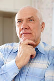 Mature man in interior Royalty Free Stock Photos